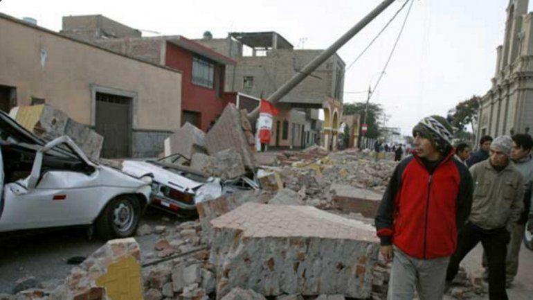Los destrozos que generó el sismo en la zona sur del país.