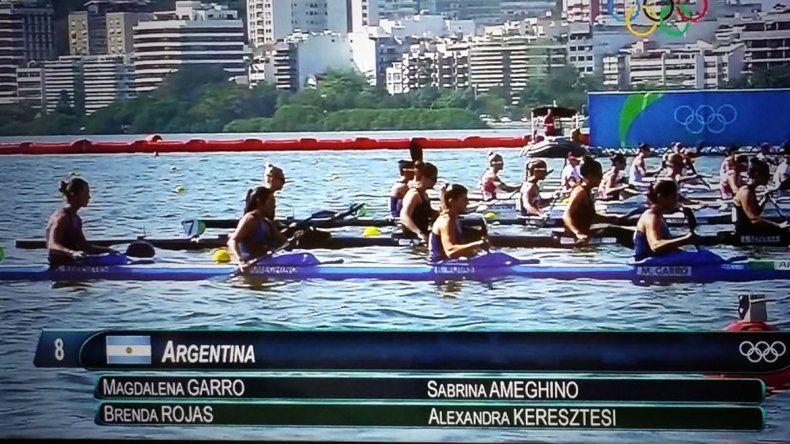 El K4 femenino no pudo llegar a las finales