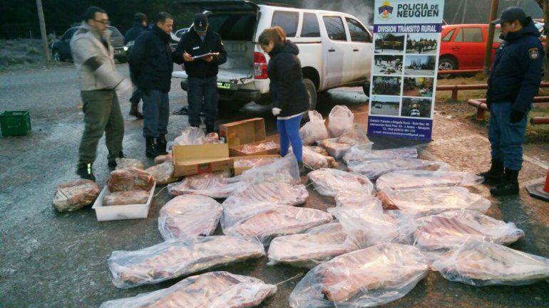 Los atraparon con 500 kilos de carne ilegal que llevaban a San Martín