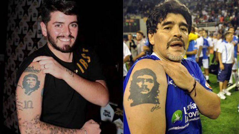 Por primera vez, Maradona se reunió con su hijo italiano