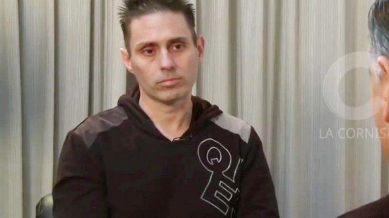Pérez Corradi dio una entrevista a un programa de televisión.