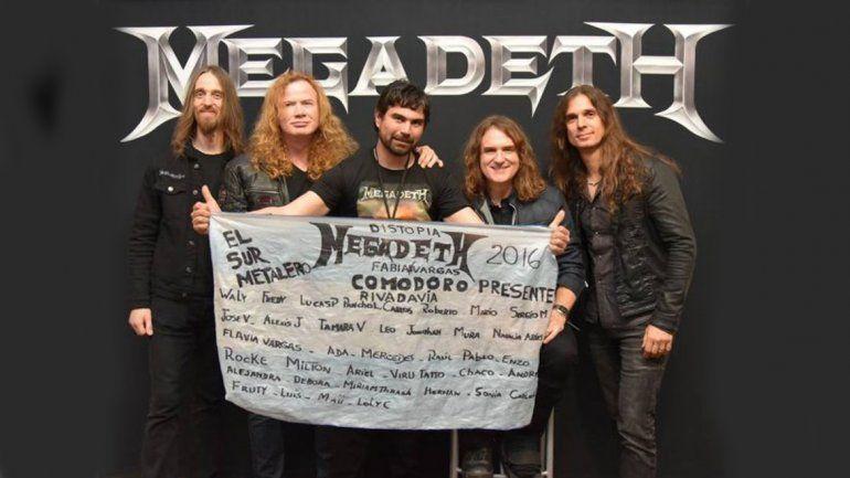 El fan apuñalado en el Ruca Che disfrutó un recital con Megadeth