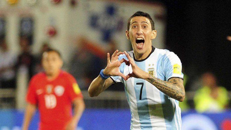 La cartas de gol para la Selección: Di María