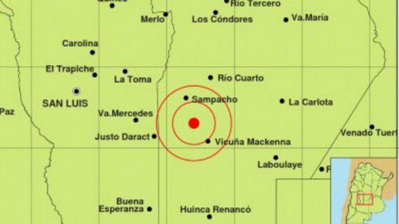 Un temblor sacudió a la ciudad de Río Cuarto