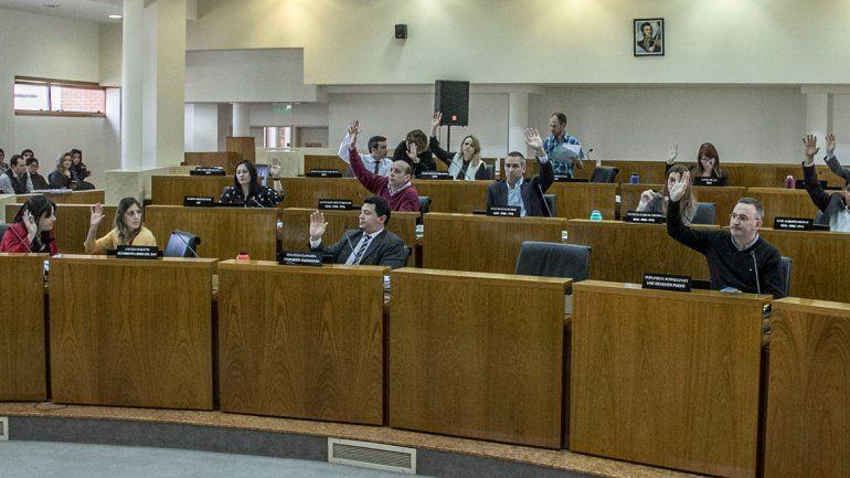 Los concejales capitalinos durante la sesión de ayer.