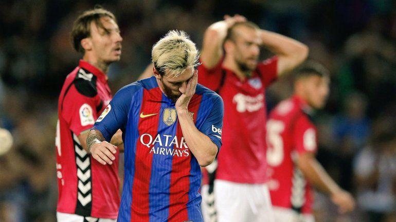 Messi no pudo evitar la caída del Barcelona