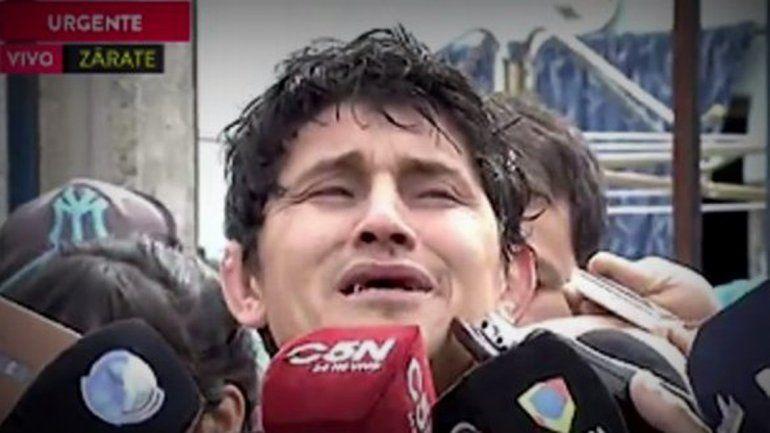 Daniel Oyarzún lloró cuando habló ayer con la prensa. Si pudiera