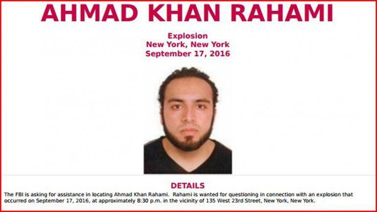 El FBI identificó a un sospechoso tras la explosión en Nueva York