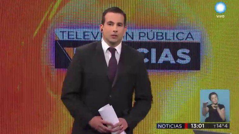 Periodista neuquino llegó a la pantalla de la TV Pública