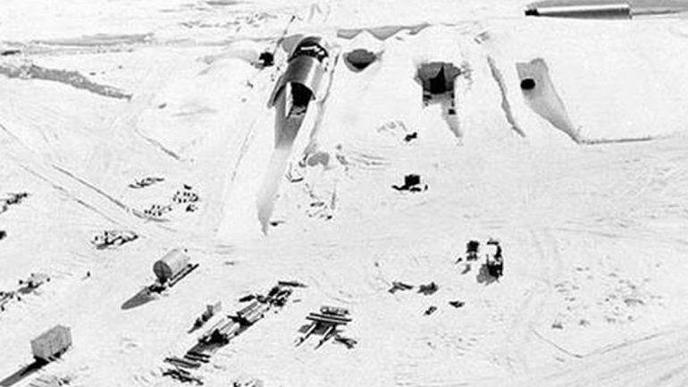 Esta es la construcción que apareció en la superficie en Groenlandia.