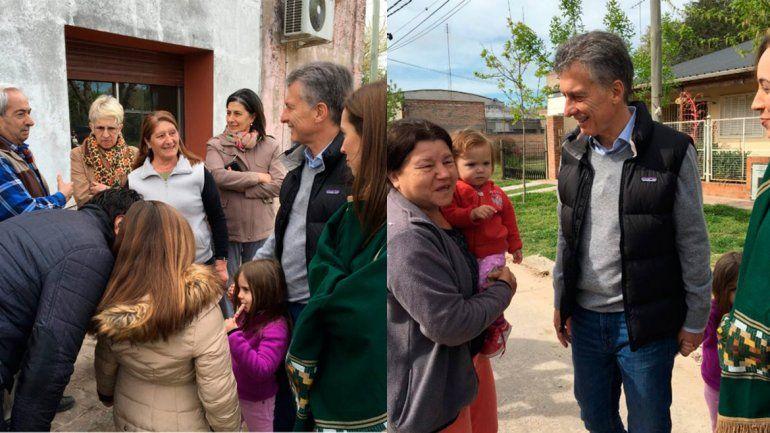 Junto a su hija Antonia, Macri encabezó un nuevo timbreo