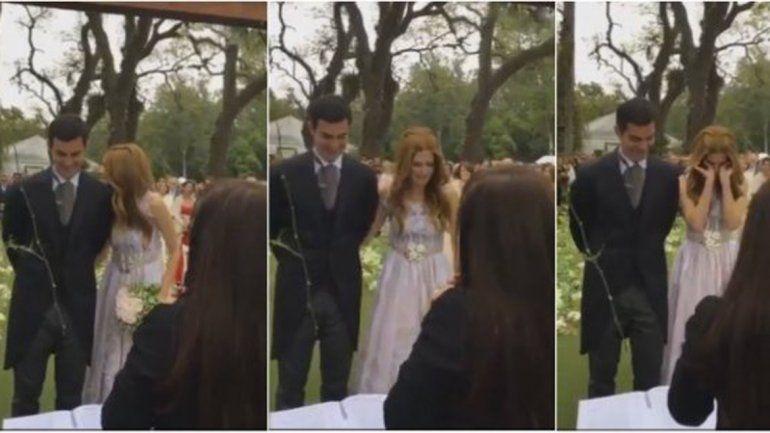 Las cámaras captaron el momento en el que Isabel dejó caer lágrimas de emoción.