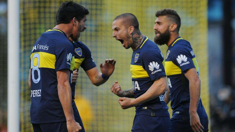 Con tres goles de Benedetto, Boca le ganó 4 a 1 a Quilmes