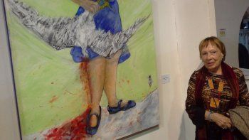 Liliana Montes Le Fort, arquitecta y artista. Su obra fue realizada para esta muestra.