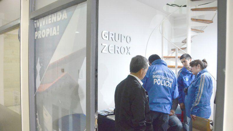Delitos Económicos durante el allanamiento a las oficias del Grupo Zerok.