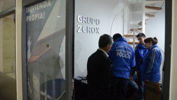 Delitos Económicos, durante el allanamiento a las oficinas del Grupo Zerox.