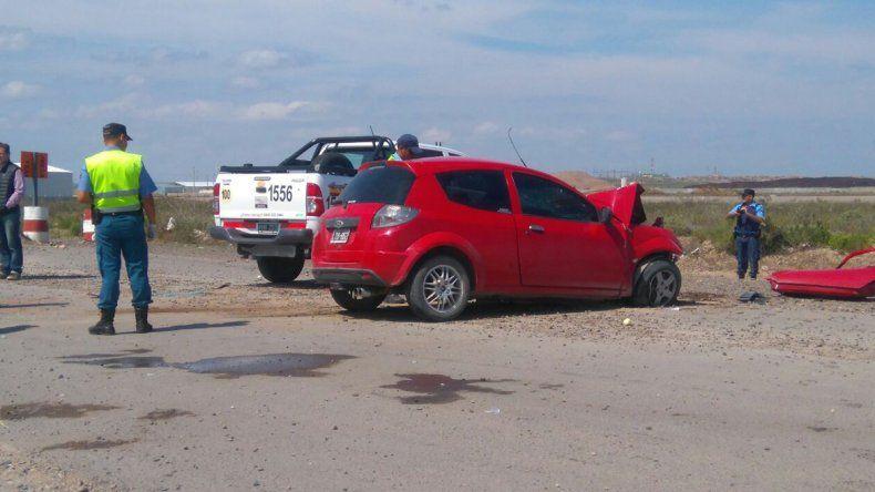 Un hombre se encuentra grave tras un choque frontal en la Autovía Norte
