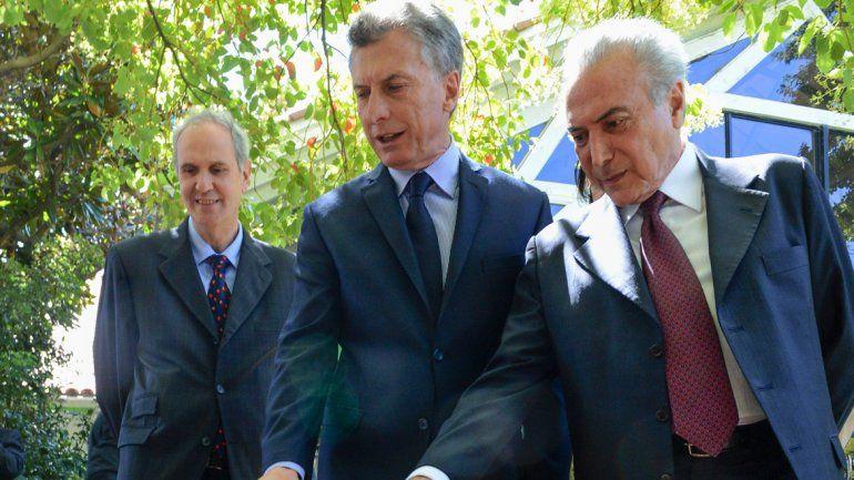 Macri y el mandatario brasileño hablaron de trabajar en conjunto.