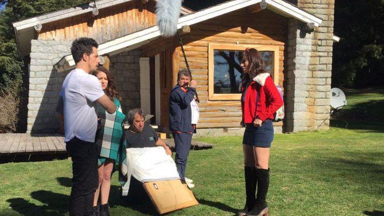 Grabaron en Villa La Angostura un capítulo de Educando a Nina