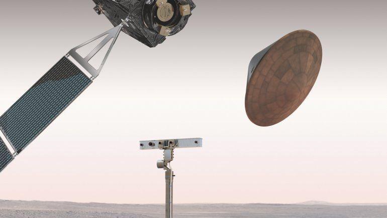 El módulo tardará seis minutos en entrar a la atmósfera de Marte.