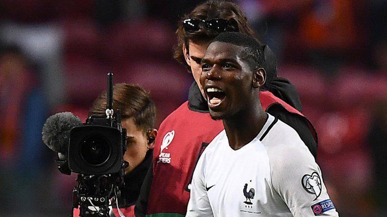 Pogba marcó el gol que le aguó la fiesta a Holanda en su casa.