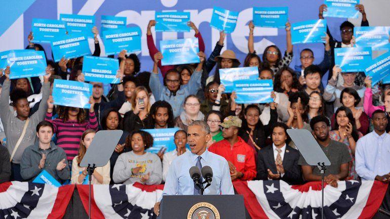 Obama dio un discurso en Carolina del Norte y criticó al Donald Trump.