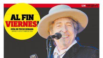 Bob Dylan fue galardonado con el premio Nobel de Literatura. A los 75 años, es el primer músico que gana la distinción y ya genera polémica. Pág. 8