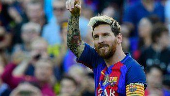 La felicidad de Lio Messi, quien regresó con gloria en el elenco culé.