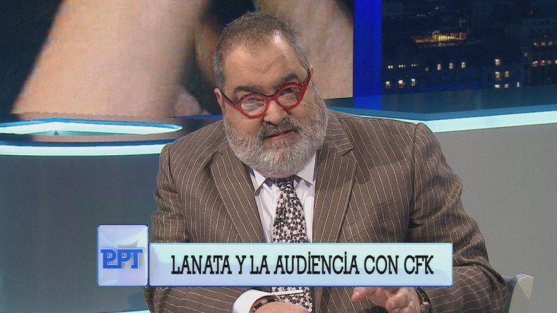 Lanata protagonizó un monólogo cargado de insultos hacia CFK.