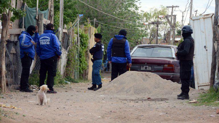 El allanamiento en barrio Belén cuando la Policía detuvo a la temida banda.