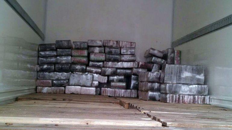 Secuestraron más de una tonelada de marihuana porque el chofer se puso nervioso