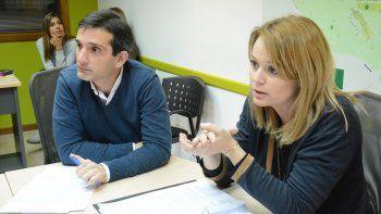 Los concejalesMarcelo Marchetti y María Eugenia Ferraresso.