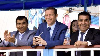 El gobernador compartió el evento con los hermanos Rioseco.