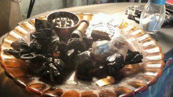 Los bagullos de marihuana separados y listos para ser comercializados.