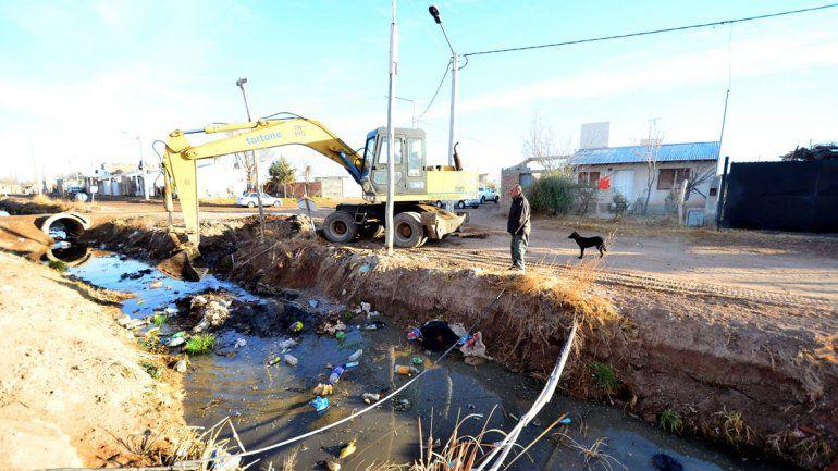 El Municipio realizó trabajos para evitar inundaciones.
