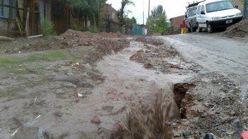 el oeste de la ciudad, uno de los sectores mas complicados por las fuertes lluvias