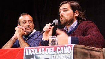 Nicolás del Caño (derecha) junto al diputado Raúl Godoy.