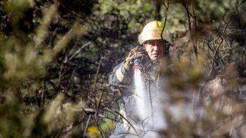 los investigadores creen que fue intencional el incendio del cerro comandante diaz