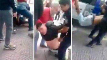El delincuente había querido robarle a una maestra, que quedó muy golpeada. Los padres lo ataron de pies y manos y lo entregaron a la Policía.