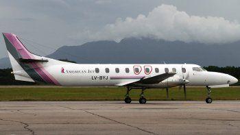 Lo hará hoy American Jet, en un avión con capacidad para 19 pasajeros.