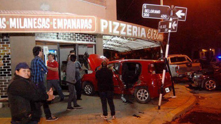 Choque Belgrano y 9 de Julio
