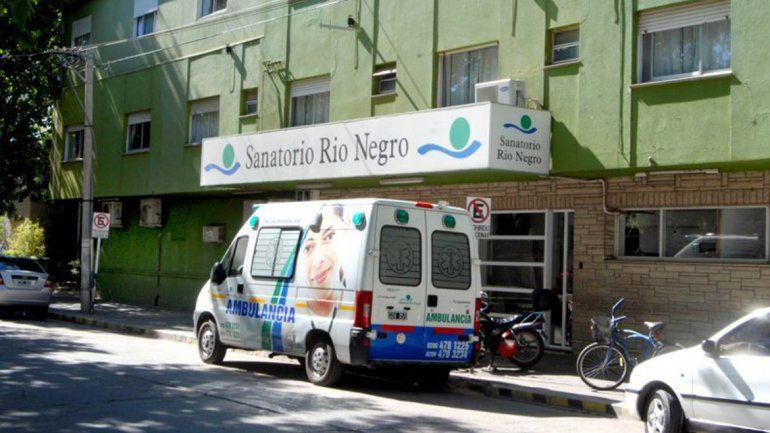 La beba permanece internada en el Sanatorio Río Negro
