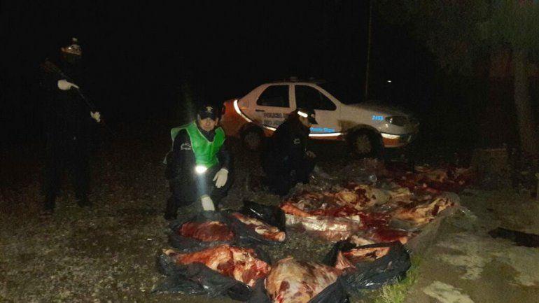 Secuestraron casi 500 kilos de asado que venían al Alto Valle