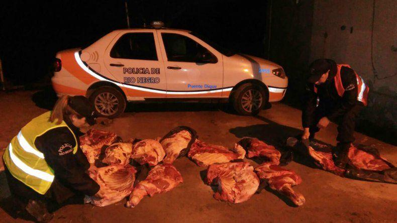 Dos detenidos por traer carne al Alto Valle en una camioneta del sindicato petrolero