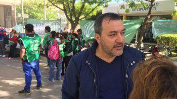 El secretario general Rodolfo Aguiar acompaña a los trabajadores del Municipio