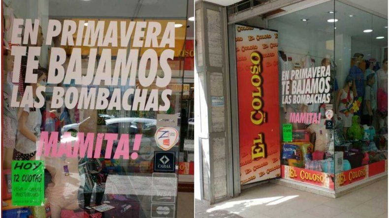 Indignación por una publicidad machista en un comercio