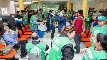 La semana pasada ATE copó las instalaciones del Municipio en una protesta que incluyó un corte en Yrigoyen y Villegas.