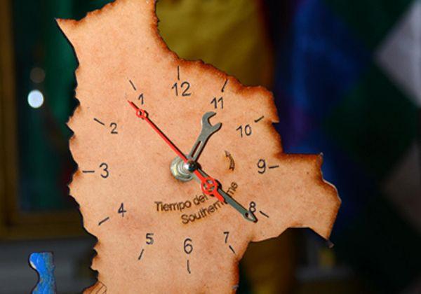 Chile Bolivia Mapa Y Enojó Con El Reloj Mar Por Se odxBCe