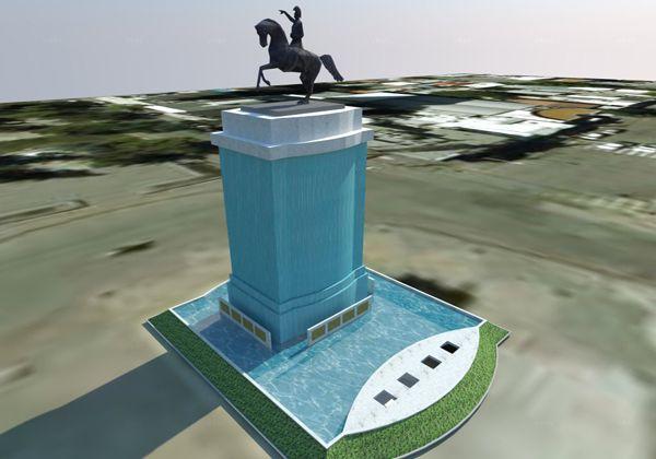 El monumento al general San Martín será protegido por una cortina de agua