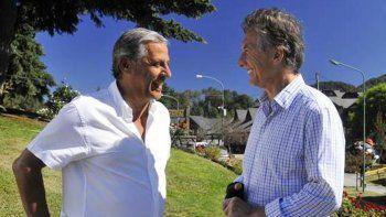 Pechi y Macri, en el último encuentro que tuvieron en Neuquén.